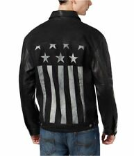 GUESS Men's USA Jacket with Coated Inserts – Black sz M