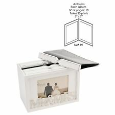 MR & MRS 80 PHOTOS BOX ALBUM 7X5 DISPLAY CASE FRAME - AMORE WEDDING KEEPSAKE