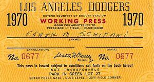 1970 Bill Singer No-Hit GM Ticket Pass 10K LA Dodgers V Phillies  Mt