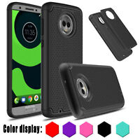 Shockproof  For Motorola Moto G6 Case Hard  Protective Hybrid  Armor Phone Cover