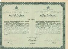 Aktie, Rumänien, Royaume de Roumanie Emprunt de Consolidation, 50 francs, 1934