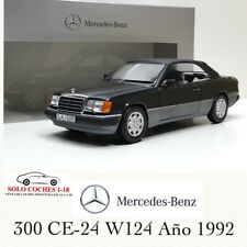 1:18 Mercedes 300 CE-24 W124 Descapotable 1992 color Azul-Negro Metalico Norev