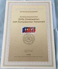 Ersttagsblatt der Deutschen Bundespost: 12/1989 Dritte Direktwahlen EU Parlament