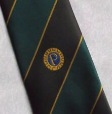 PROBUS INFORMATION CENTRE CLUB ASSOCIATION TIE VINTAGE RETRO GREEN BROWN 1990s