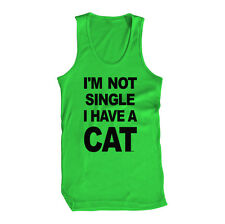 I'm Not Single I Have A Cat Funny Lonely Alone Hipster  Mens Tank Top