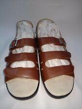 Propet Women's 11 Wide Breeze Walker Brown Leather Adjustable Strap Sandals