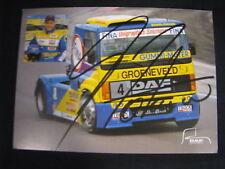 Card Gerd Körber (GER) DAF Fina Racing Team Euro FIA Truck Cup 1997 (MBC) signed