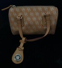 Vintage Dooney & Bourke Mini Barrel Satchel, Leather/Canvas, Pocketbook Bag