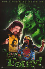 POSTER: WWF WRESTLING: MICK FOLEY -FACES OF FOLEY   FREE SHIPPING  #3475  RP59 M