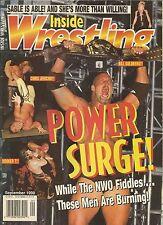 SEPTEMBER 1998 INSIDE WRESTLING MAGAZINE BILL GOLDBERG CHRIS JERICHO BOOKER WCW