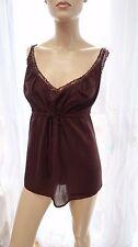 AF smart casual Brown lace strappy capi vest top Dorothy Perkins size 18uk