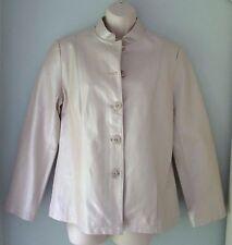 For Cynthia Lagenlook Beige 100% Linen Button Hoodie Jacket Coat Women 1X