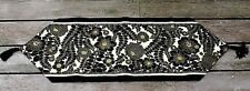 """Floral Table Runner 100% Cotton Fabric New Handmade 13.75"""" x 48"""" Rayon Tassels"""