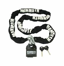MAMMOTH 10MM SQUARE LOCK AND CHAIN 1.8 METER