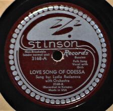 Lydia Ruslanova Love Song of Odessa 78 Russian Folk Stinson 3168 Ech Matushka