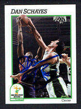 Dan Schayes #121 signed autograph auto 1991-92 Hoops Basketball Trading Card
