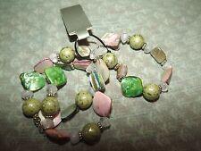 Stretchy Wrap Bracelet New Chunky Multi Color/ Gemstone