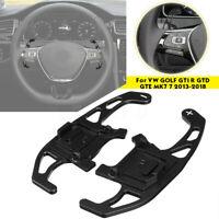 Paire Extension Palettes volant noir pour VW GOLF GTI R GTD GTE MK 7 VII 13-18
