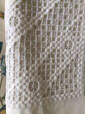 Vintage 1900 European Pillow Case Handmade Embroidery Metis Ecru Never Used