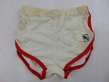Vintage 80 BAYRE Pantaloncini M Bianco Calcio Shorts Glanz Soccer Running