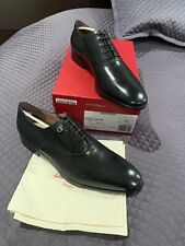 Salvatore Ferragamo Toulouse Black Leather Plain Oxford Men's Shoes Size 11.5