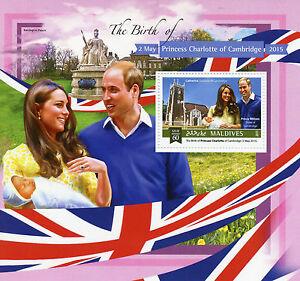 Maldives 2015 MNH Birth Princess Charlotte Royal Baby 1v S/S Prince William Kate