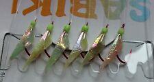 Quality Sabiki Jap Bait Jigs. 3 Packs. Yakka Herring Slimies. Size 8 Hooks