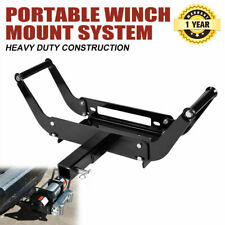 Winch Mount Cradle Plate Bull Bar Mount 4x4 ATV Jeep Truck Trailer 4WD
