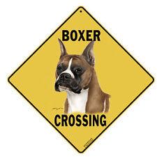 """Boxer Dog Crossing Sign 12""""x12"""" 16""""x16""""  Indoor Outdoor Street Sign"""
