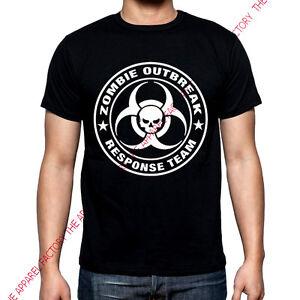 Men's Zombie Outbreak Response Team Black T-Shirt apocalypse hunter tee funny