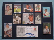 Signed Collage - B. Robinson, C. Hubbell, E. Mathews, B. Feller & Stan Musial