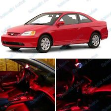 Brilliant Red Interior LED Package For Honda Civic 2001-2005 (6 Pieces) #89