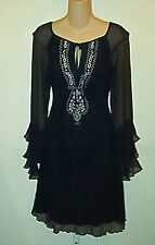 A.B.S Allen Schwartz New  Black  Peasant Dress  4