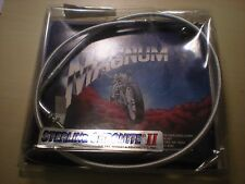 """NOS Magnum Steel Braided Throttle Cable +3"""", 1998 - 2010 Yamaha  XV650 #833143-Y"""