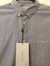 Short Sleeve Grey Blue Casual Shirt From Zara Size Small Slim Fit New