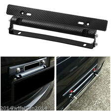 Adjustable Carbon Fiber Style Racing Car Van License Plate Frame Bracket Holder