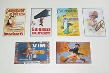 Lot de 6 Carte Postale Reproduction Affiche Publicitaire Ancienne Pub l