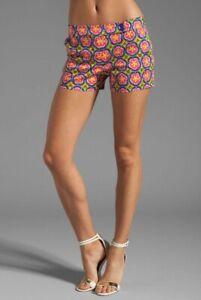 NEW Trina Turk Corbin Geometric Floral Mid Rise Shorts Women's Size 4 MSRP $188