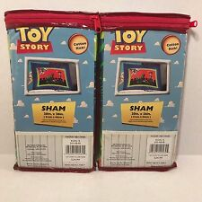"""DISNEY PIXAR TOY STORY PILLOWCASES """"NWT"""" SHAMS (SET OF 2) 20IN X 26IN"""