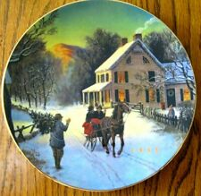 Avon 1988 Christmas Plate Home For The Holidays
