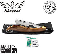 BARBER SALON STRAIGHT CUT THROAT SHAVING RAZOR SHAVETTE RASOIRS RASOI 10 BLADE
