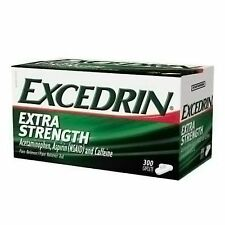 Excedrin Extra Strength Caplets Headache Pain Reliever Acetaminophen 300 Counts