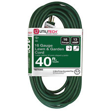 NEW 40-Ft Extension-Cord Outlet 16-Gauge Christmas Yard-Decoration Light Outdoor