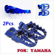 2Pcs Blue CNC Racing Wide Fat Foot Pegs Footpegs For YAMAHA ALL YZ/YZF/WRF 99-17