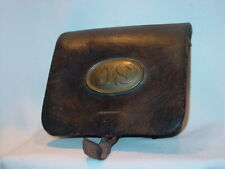 New listing Civil War Cartridge Box Made Bangor Me As Found
