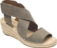 Rockport Cobb Hill Kairi X Strap Wedge Sandal (Women's) in Taupe Leather - NEW