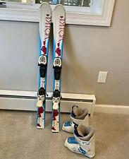 New listing 110 Cm Volkl Chica Junior Girl Skis, Marker 4.5 Bindings, Nordica 25.5 Ski Boots