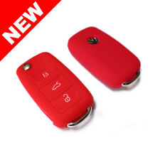 RED SILICONE COVER FOR VW 3-BUTTON REMOTE FOLDING FLIP KEY