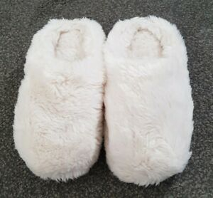 LADIES FLUFFY MULE SLIPPERS SIZE 6
