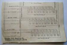 Chicago Coin 4 Player Derby Pinball Machine Game Schematic Diagram Original 1952